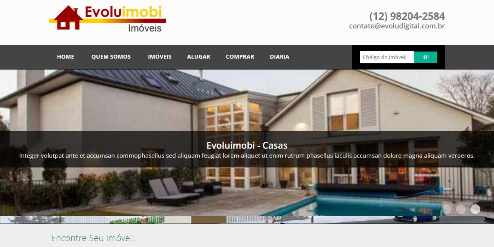 Evoluimobi - Site para Imobiliária